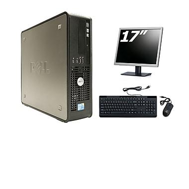 Dell - PC de table compact OptiPlex 780 SFF remis à neuf, 3,0 GHz Intel Core 2 Duo, DD 250 Go, 4 Go DDR3, Windows 10 Famille