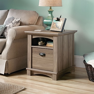 Sauder Harbor View Side Table, Salt Oak