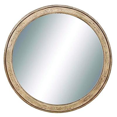 Cole & Grey Wood Frame Wall Mirror