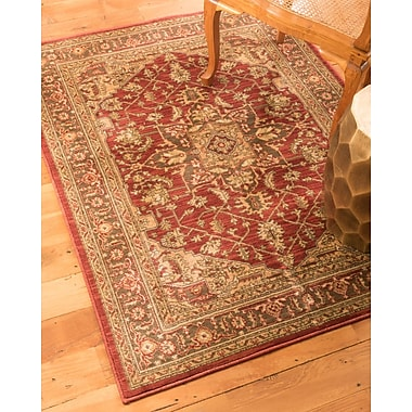 Natural Area Rugs Chiara Beige/Red Area Rug; 4' x 6'