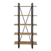 Cole & Grey Metal and Wood 71'' Etagere Bookcase
