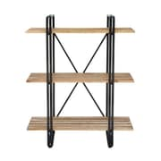 Cole & Grey Metal and Wood 48'' Etagere Bookcase