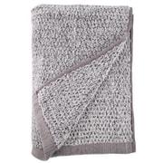 Everplush Diamond Jacquard Bath Towel; Gray