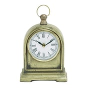 Cole & Grey Aluminum Mantel Clock