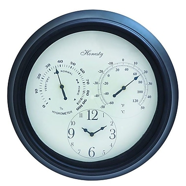 Cole & Grey Metal Outdoor 16'' Wall Clock
