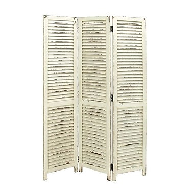 Cole & Grey 71'' H x 48'' W Wood 3 Panel Room Divider