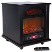 Della Portable 1500 Watt Electric Infrared Cabinet Heater; Black