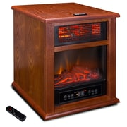 Della Portable 1500 Watt Electric Infrared Cabinet Heater; Brown