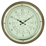 Cole & Grey Wood and Stainless Steel 17'' Wall Clock