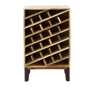 Cole & Grey Wood 24 Bottle Floor Wine Bottle Rack