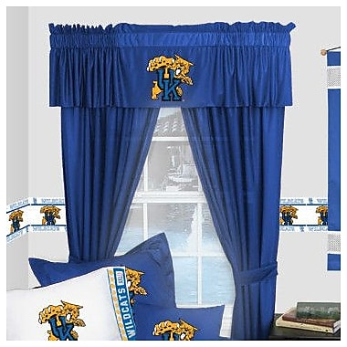 Sports Coverage NCAA Kentucky Wildcats Rod Pocket Window Treatment Set (Set of 2); 63'' W x 82'' L