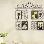 AdecoTrading 4 Opening Decorative Iron Metal Wall Hanging Collage Picture Frame