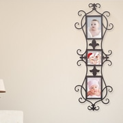 AdecoTrading 3 Opening Decorative Iron Metal Wall Hanging Collage Picture Frame