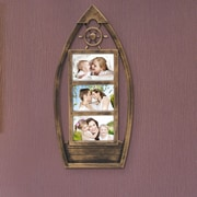 AdecoTrading 3 Opening Plastic Picture Frame; Antique Gold