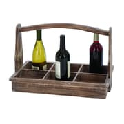 Cole & Grey Wood 6 Bottle Tabletop Wine Bottle Rack