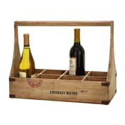 Cole & Grey Wood 8 Bottle Tabletop Wine Bottle Rack
