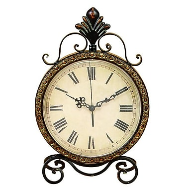 Cole & Grey Metal Table Clock