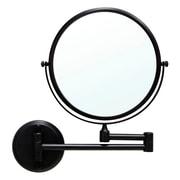 Modona 2 Sided Wall Mirror; Rubbed Bronze