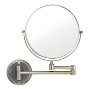 Modona 2 Sided Wall Mirror; Satin Nickel
