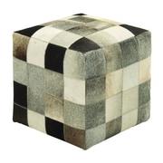 Cole & Grey Leather  Ottoman