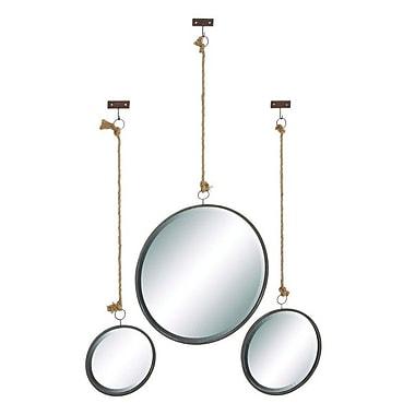 Cole & Grey 3 Piece Metal Wall Mirror Set