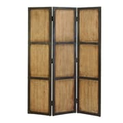 Cole & Grey 71'' H x 48'' W Wood 3 Panel Room Divider