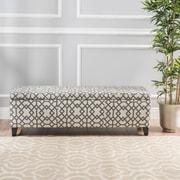 Varick Gallery Scriber Upholstered Storage Bedroom Bench