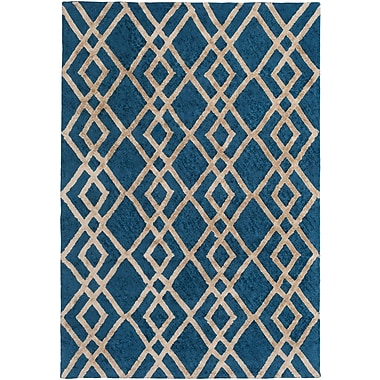 Artistic Weavers Silk Valley Lila Hand-Tufted Blue Area Rug; 5' x 7'6''