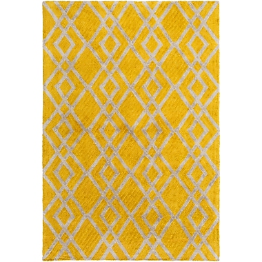 Artistic Weavers Silk Valley Lila Hand-Tufted Yellow Area Rug; 8' x 11'