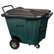 Akro Mils 90-Gal Trash Bin w/ Lid; Green