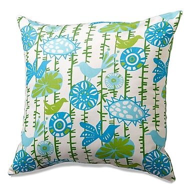LizandRooFineBabyBedding Menagerie Cotton Throw Pillow; Blue/Green