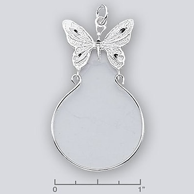 House of Jewellery Sterling Silver Diamond Cut Animal Charm, Butterfly (SB343)