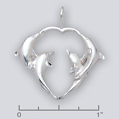 House of Jewellery – Breloque d'animal aquatique en argent sterling à taille de diamant, dauphin (C2994)