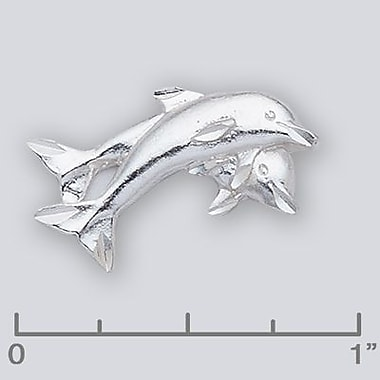 House of Jewellery Sterling Silver Diamond Cut Nautical Animal Charm, Dolphin (C2417)