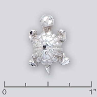 House of Jewellery – Breloque d'animal aquatique en argent sterling à taille de diamant, tortue (JB244)