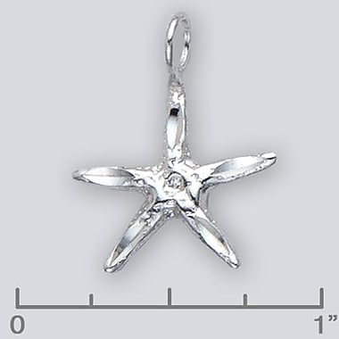 House of Jewellery Sterling Silver Diamond Cut Nautical Charm, Star Fish