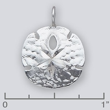 House of Jewellery Sterling Silver Diamond Cut Nautical Charm, Sand Dollar (JB417)