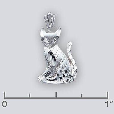 House of Jewellery Sterling Silver Diamond Cut Animal Charm, Cat (S1460)