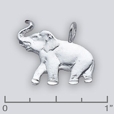 House of Jewellery Sterling Silver Diamond Cut Animal Charm, Elephant (C2418)