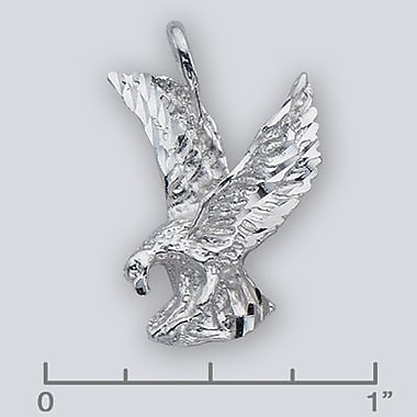House of Jewellery Sterling Silver Diamond Cut Animal Charm, Eagle (JB202)