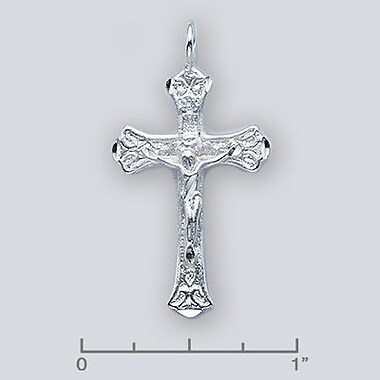 House of Jewellery – Breloque religieuse en argent sterling taillée au diamant, crucifix (JB153)