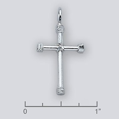 House of Jewellery Sterling Silver Diamond Cut Religious Charm, Cross (JB219)