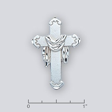 House of Jewellery Sterling Silver Diamond Cut Religious Charm, Cross (C4631)