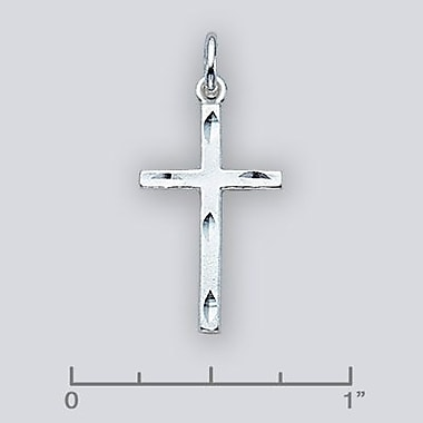 House of Jewellery Sterling Silver Diamond Cut Religious Charm, Cross (C1492)