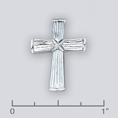 House of Jewellery Sterling Silver Diamond Cut Religious Charm, Cross (JB359)