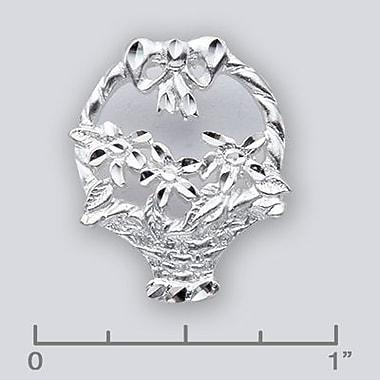 House of Jewellery Sterling Silver Diamond Cut Flower Charm, Basket