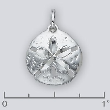 House of Jewellery Sterling Silver Diamond Cut Nautical Charm, Sand Dollar (JB148)