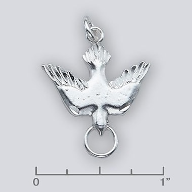 House of Jewellery Sterling Silver Diamond Cut Animal Charm, Dove (C4746)