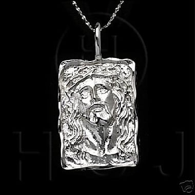 House of Jewellery Sterling Silver Diamond Cut Religious Charm, Jesus (C1192)