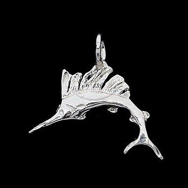 House of Jewellery Sterling Silver Diamond Cut Nautical Animal Charm, Marlin Fish (JB238)